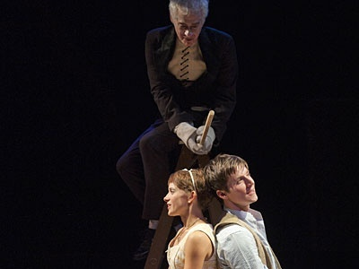 Bree Greig (left), Jeff Hyslop (centre) and Colin Sheen (right) in the 2010/2011 production of THE FANTASTICKS. Photo by David Cooper