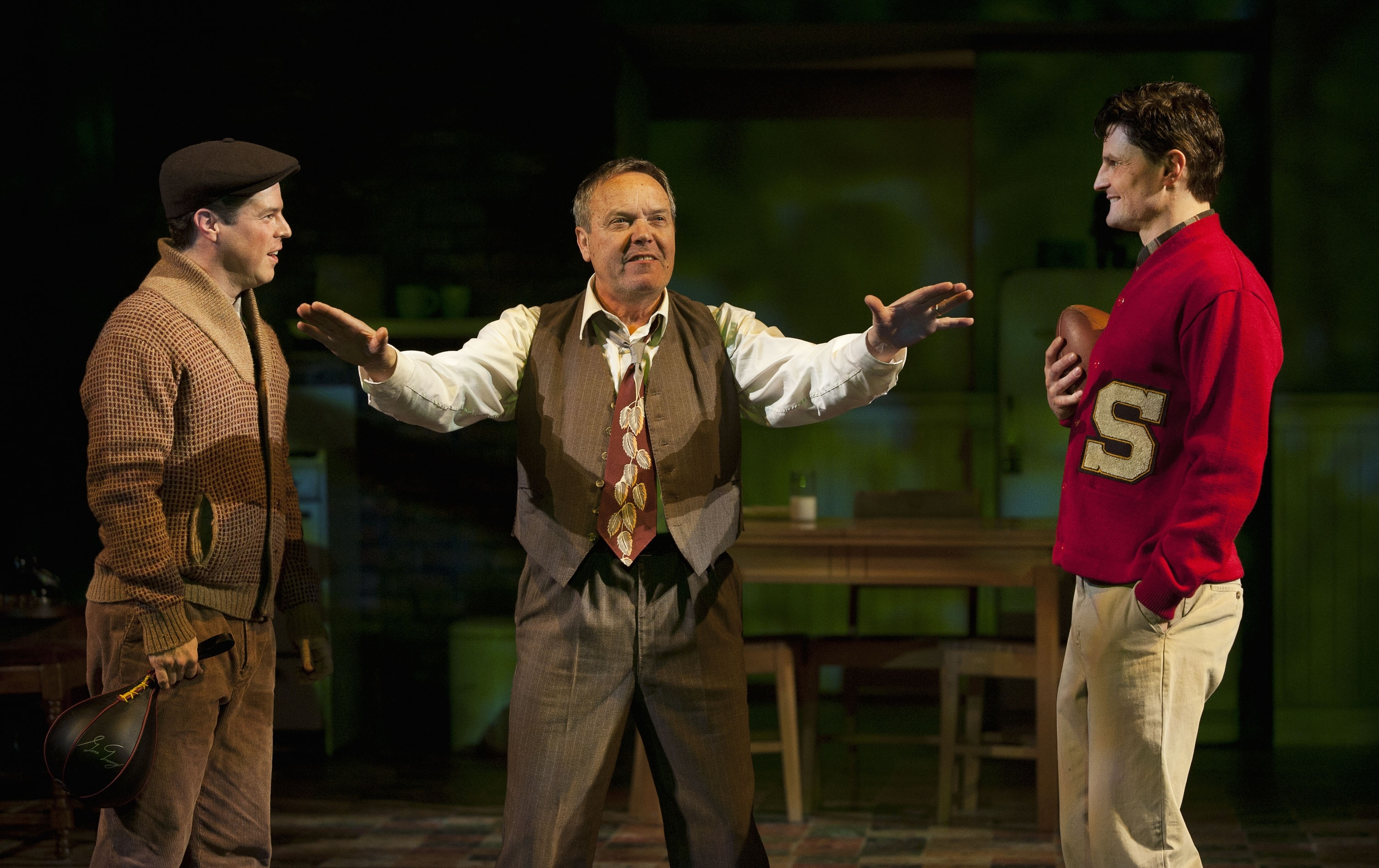 Kevin K. James, Tom McBeath and Bob Frazer in Arthur Miller's Death of a Salesman (2010-2011 Season). Photo by David Cooper.