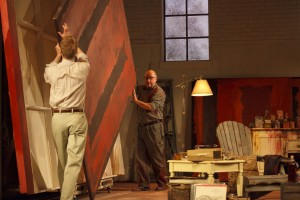 David Coomber (Ken) and Jim Mezon (Rothko) in RED (Jan 14-Feb 4). Photo by Bruce Zinger